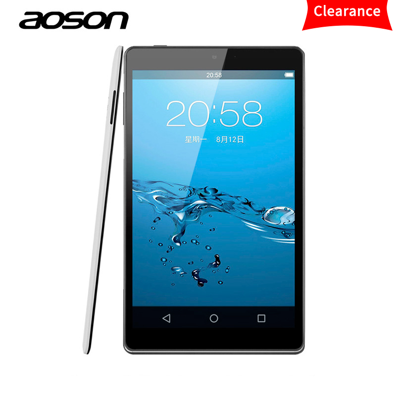 Original Aoson M812 Ultra-Thin 8 inch Android Tablet 1GB RAM 16GB ROM Lollipop Tablets PC IPS Allwinner A33 Quad Core Bluetooth bs1078 10 0 quad core android 4 4 tablet pc w 1gb ram 16gb rom bluetooth wi fi white black