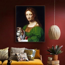 St. Mary Magdalene Famous Oil Painting By Vinci Canvas Printings Art Home Decor Wall Picture for Living Room Church