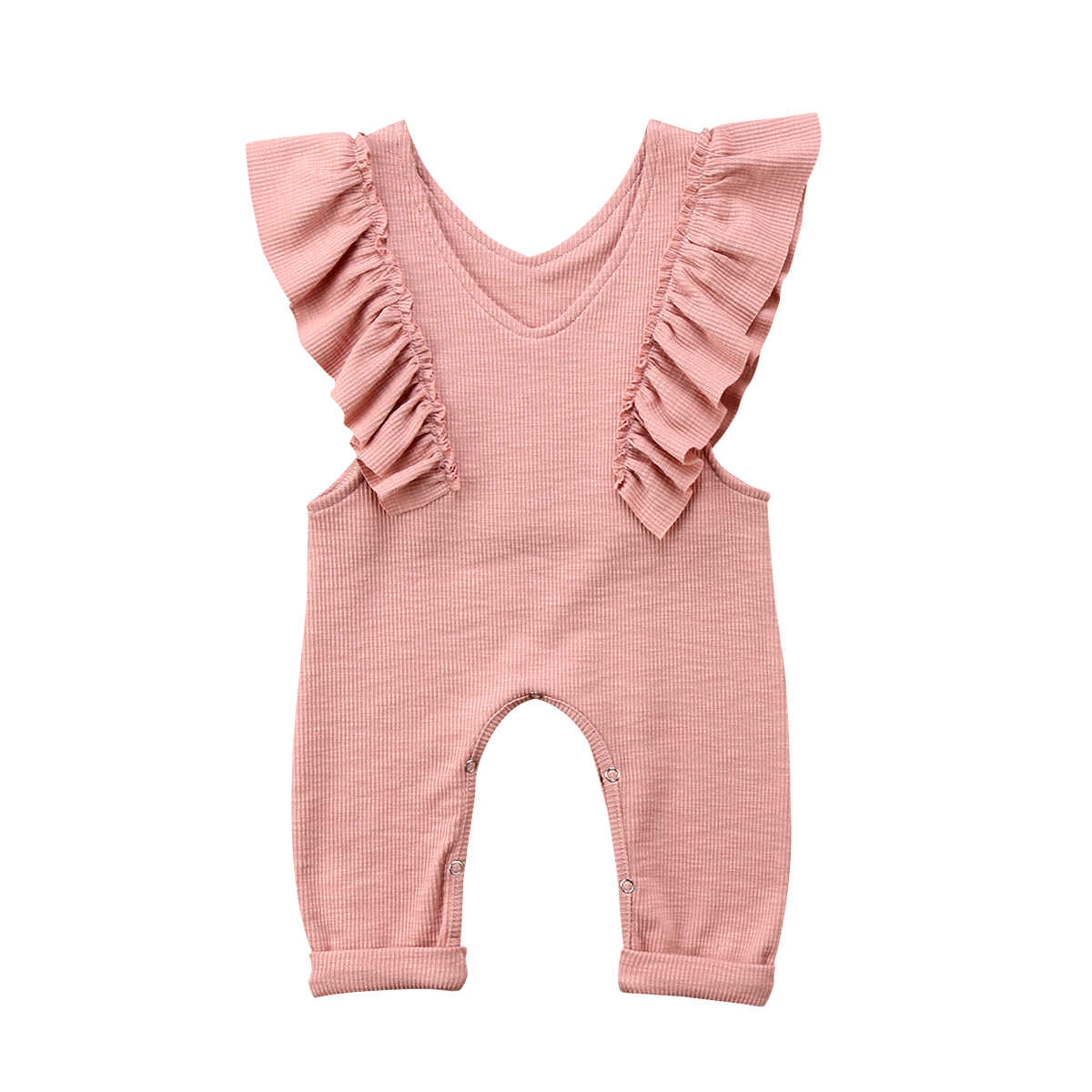 ee10a6db4359e Detail Feedback Questions about Baby Girl Overalls Ruffle Knitted Romper  Sleeveless Jumpsuit Kid Overalls Long Pants Outfit Lovely Children Girl  Clothes on ...