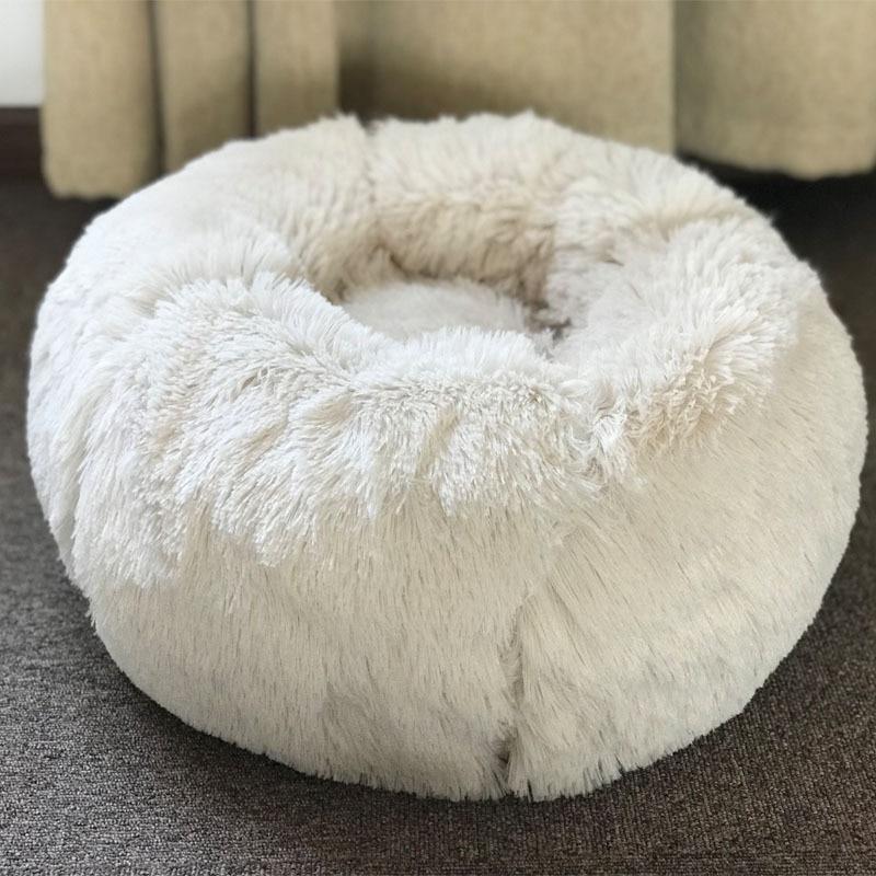 Pet Soft Plush Round Dog Beds Mats Warm Cotton Cat
