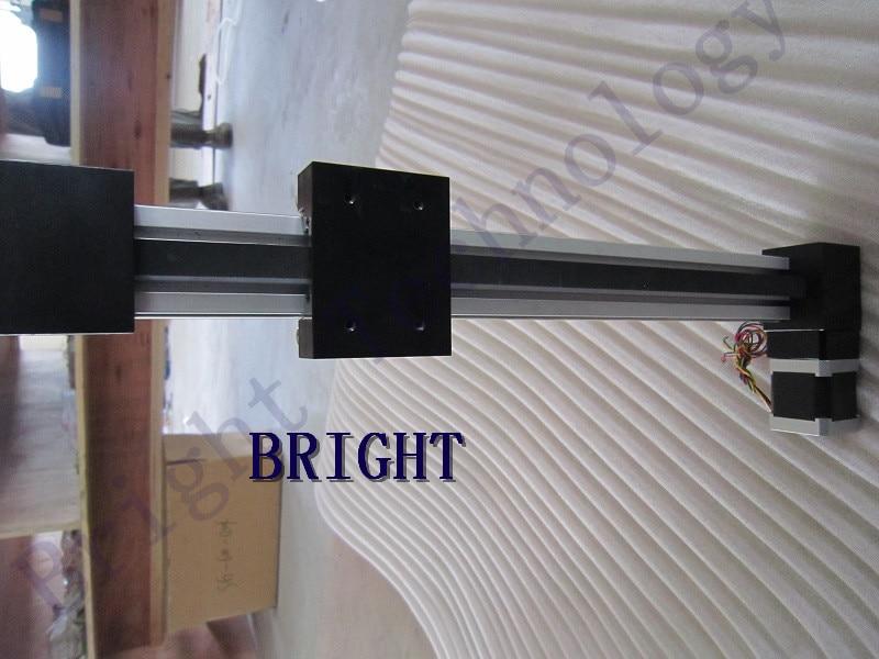 3M Synchronous Timing Belt Linear Slide Stage X Y Z Axis Sliding Table Module Effective Stroke 100mm + 57 Nema23 Stepper Motor 45 mm wide 57 stepper motor can match the linear single shaft module synchronous belt line electric sliding table