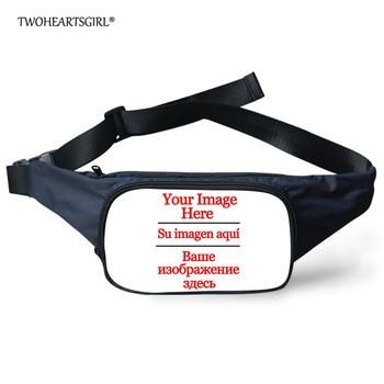 TWOHEARTSGIRL Custom Waist Bags Women Fanny Pack Female Belt Bag Men Packs Chest Phone Pouch