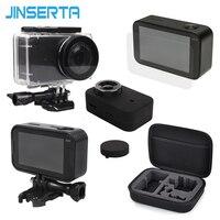 5 In 1 Camera Bag Set Waterproof Housing Plastic Frames Soft Silicone Cover EVA Storage Bag
