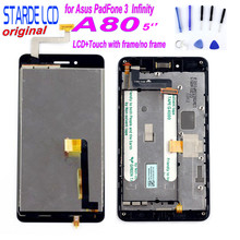 STARDE LCD for Asus PadFone 3  Infinity A80 LCD Display Touch Screen Digitizer Assembly with Frame + Free Tools цена и фото
