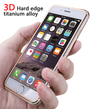 3D titanium alloy Hard edge Tempered Glass for iPhone 6 6s plus 7 7PLUS Full Screen Protector for iPhone 8 8plus protective film