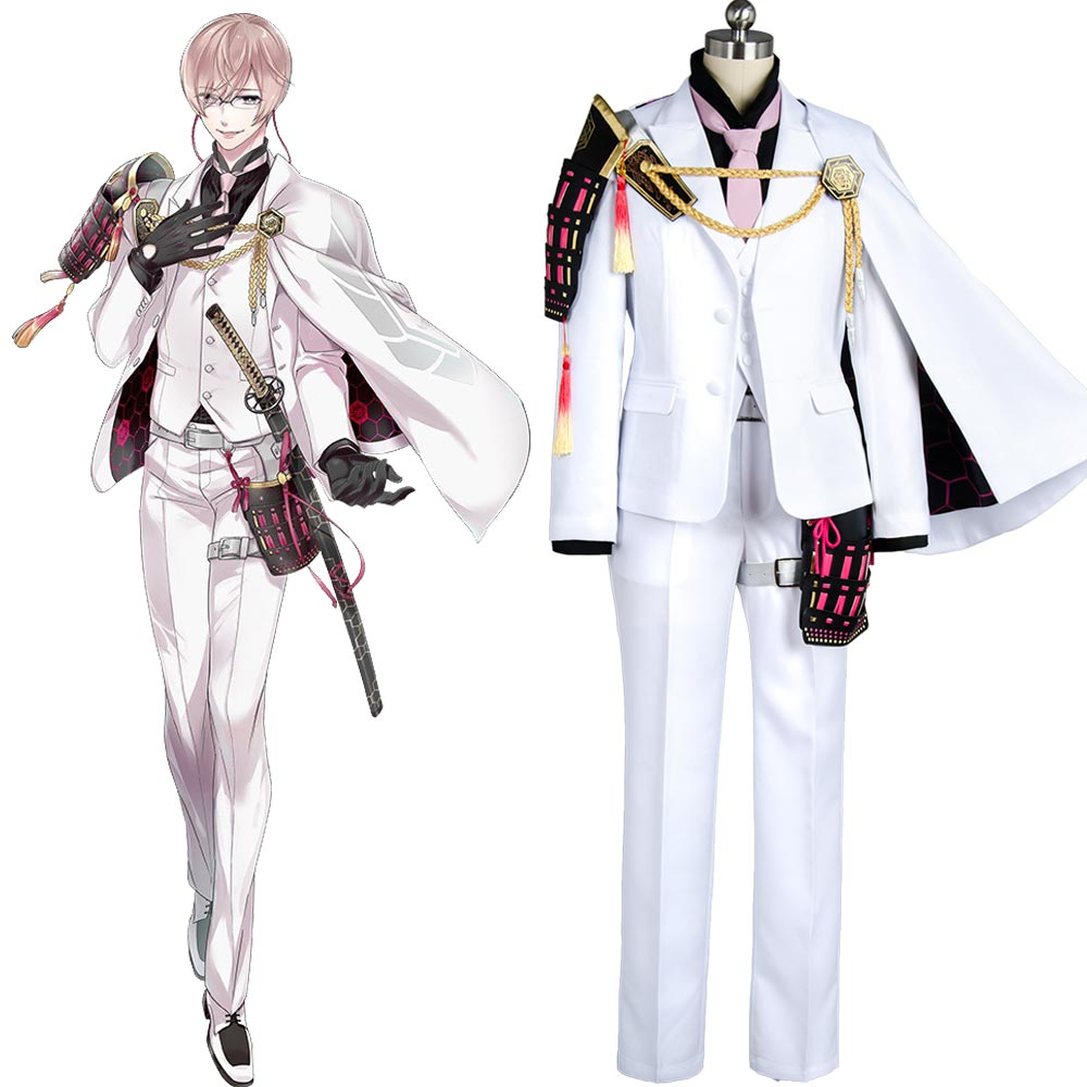 Touken Ranbu Costume Kikkou Sadamune Cosplay Anime Costume Custom Made Carnival Halloween Full Set Uniform Costumes