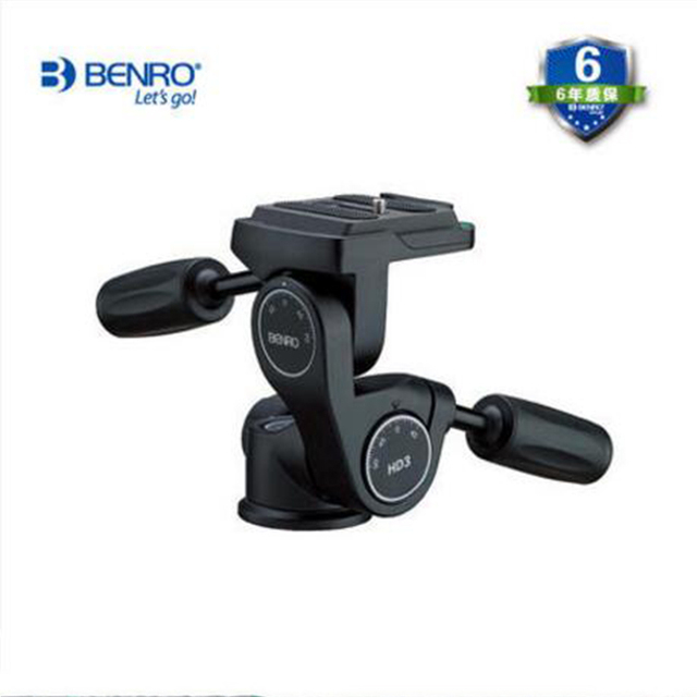 Benro Hot HD3 Magnesium Alloy Video Head Professional 3 Ways Tripod Head Professional Camera Support With Quick Release Plate