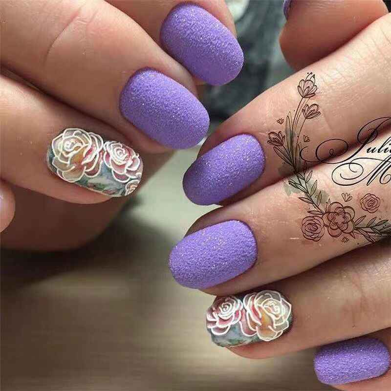 1pc de moda 3D acrílico grabado flor uñas pegatina en relieve flor uñas agua calcomanías empaismo agua transferencia uñas pegatina