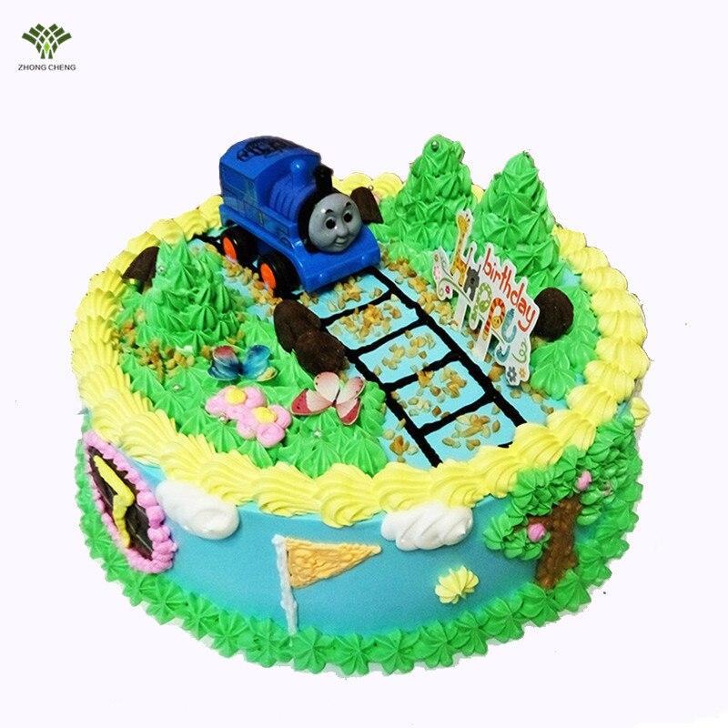 1PCS ThomasFriends Birthday Cake Topper Picks Inertia Thomas Train