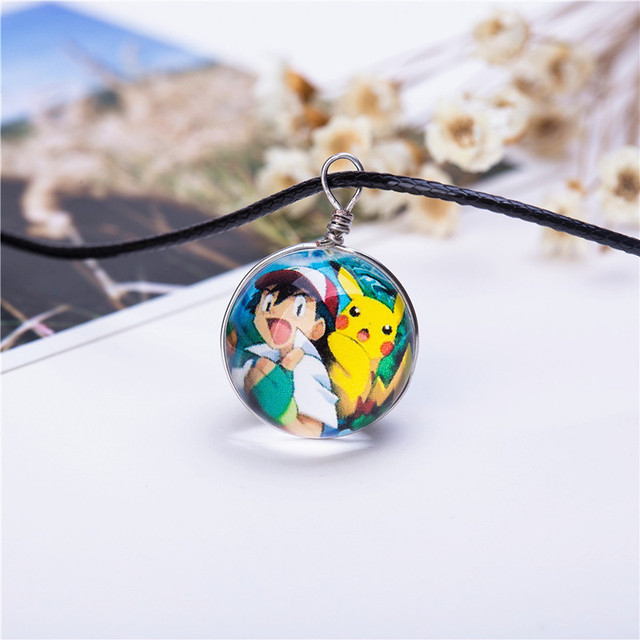 Hot Glass Personalized Pokemon Picture Necklaces