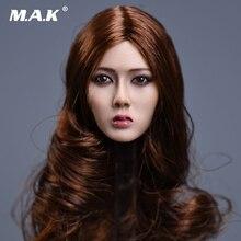 1/6 Xiu Series Asian Female Head Curly Blond Hair  F 12 Body Figure Toy s02a s06b s09c s18a s19b s20a s21b s22a s23b 1 6 tbleague ph seamless mid large breast bust female body f 1 6 head figure