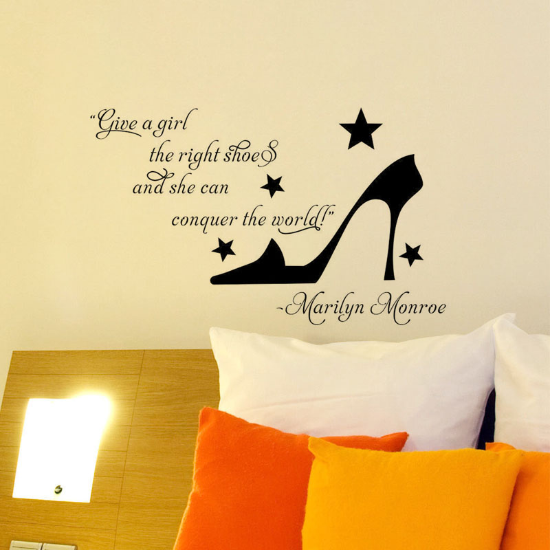 High Heel Vinyl Art Decal Spanish Quote Vinyl Mural Removable Wall ...
