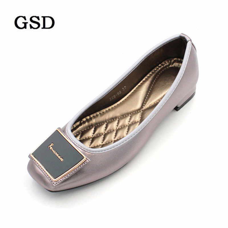 Plus Size 35-42 Women Flats Slip-On Ballet Flats Zapatillas Mujer Woman Shoes Spring Autumn Shallow Dress Shoes Ladies Shoes