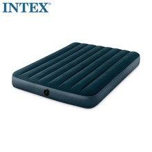 INTEX 64733 двойной человек 137*191*25 см Флокирование с полосой надувная кровать коврик воздушный матрас, кемпинг коврик Мебель для спальни