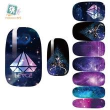 Rocooart K5653 Water Transfer Foil Nails Art Sticker Mystery Galaxy Design Manicure Decor Decal Fashion Nail