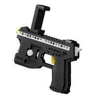 Qunlong AR Gun Building Blocks Educational Bricks Cut Fruit Game Enlighten Stacking Toy Kids Augmented Reality