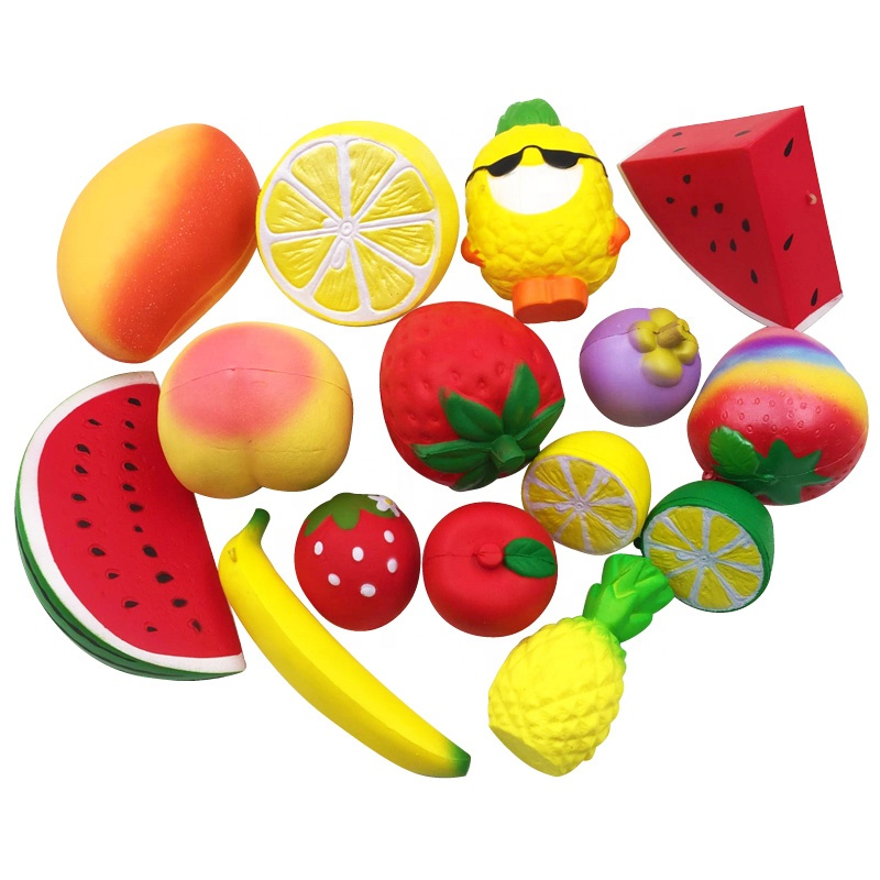 Squishy Pack Fruit Set Squishies Peach Banana Strawberry Pineapple Mango Watermelon Apple Squeeze Stress Relief Toy BallSquishy Pack Fruit Set Squishies Peach Banana Strawberry Pineapple Mango Watermelon Apple Squeeze Stress Relief Toy Ball