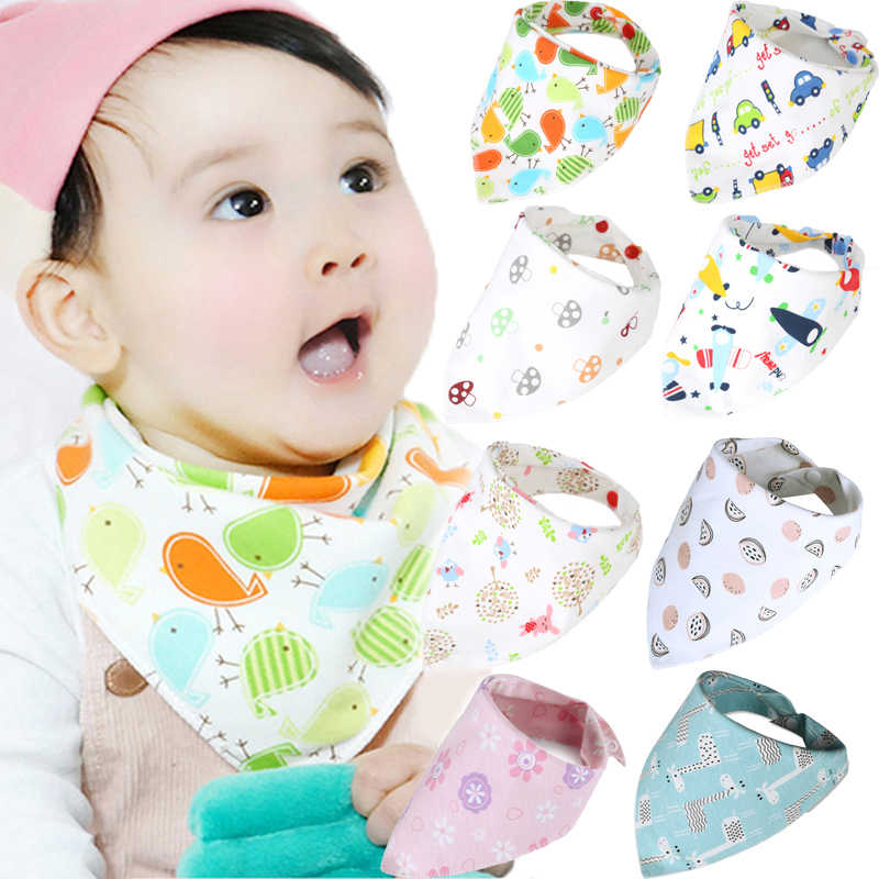 Cute Bandana Bibs Baby Babador Feeding Smock Infant Burp Cloths Cartoon Saliva Towel Baby Eating Accessory Soft Baby Stuff