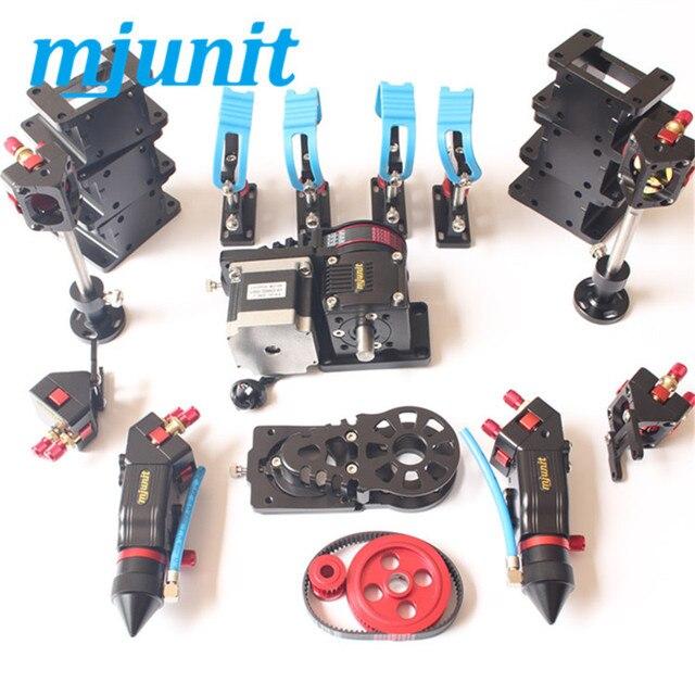 Pièces de machine laser Co2   Incluant la tête de miroir laser, montage de la ceinture de support de tube, fixutre réducteur de vitesse, engrenages