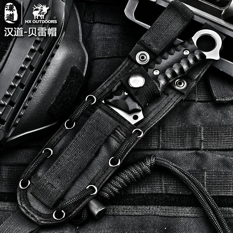 HX OUTDOORS Coltello tattico per esterni Coltello da sopravvivenza da - Utensili manuali - Fotografia 4