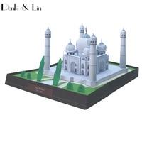 DIY Taj Mahal, indien Handwerk Papier Modell 3D Architektonische Gebäude DIY Bildung Spielzeug Handmade Adult Puzzle Spiel