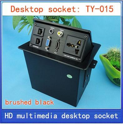 Desktop socket / hidden multimedia information box outlet / HD HDMI network RJ45 video Audio VGA interface desktop socket TY-015 цена 2017