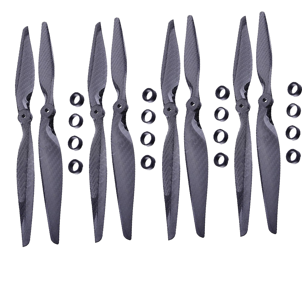 F05314 4 Pairs 13x6.5 3K Carbon Fiber Propeller CW CCW 1365 CF Props for DIY RC Quadcopter Hexacopter Multi Rotor image