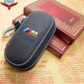 Genuine Genuine Leather Bag Car Key Case Cover Wallets Fashion Women Housekeeper Holders Carteira For BMW E X Series M Logo