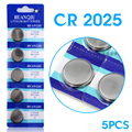 +Free Shipping+ +Hot Selling+ 5Pieces CR2025 BR2025 DL2025 KCR2025 2025 3V Button Coin Cell Battery Bulk Lot 23