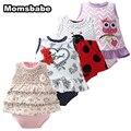 Menina bodysuits 2 pçs/lote moda estilo dos desenhos animados do bebê roupas de menina recém-nascidos do bebê manga curta ropa bebe próximo clothing vestido