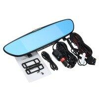 KROAK Dual Lens 1080P 7 Inch Car DVR Rearview Mirror Video Recorder Dash Cam Parking Camera