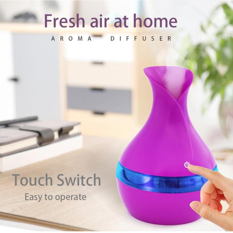 300ml Ultrasonic Air Humidifier 7 Colors LED Night Light Aroma Essential Oil Diffuser Air Purifier Mist Maker for Office Home cute mini usb clovers ultrasonic air humidifier led light essential oil aroma diffuser home office mist maker air purifier