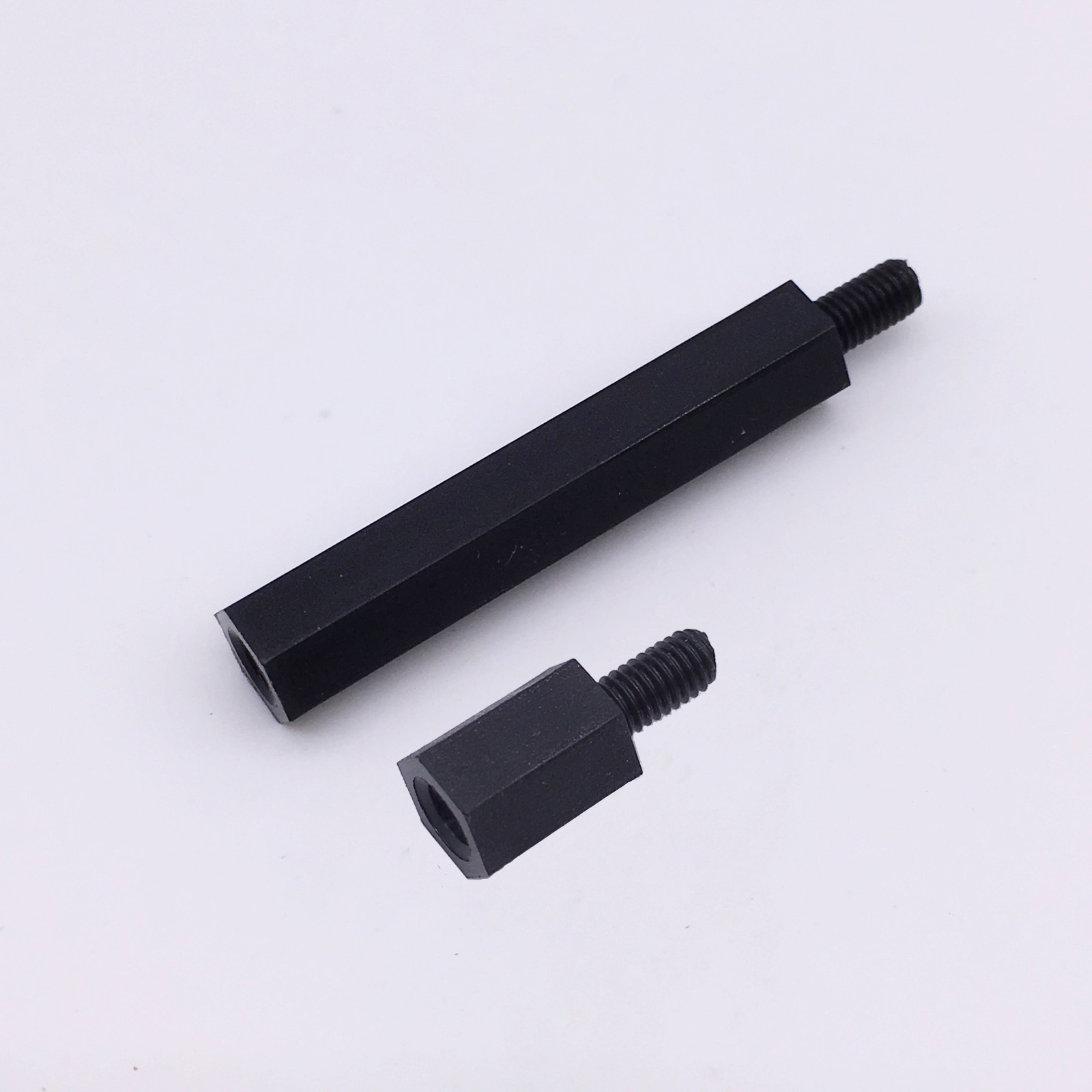 M3 Spacers PCB Standoff Hex Nylon Black Screw Nut Male to Female Plastic Parts