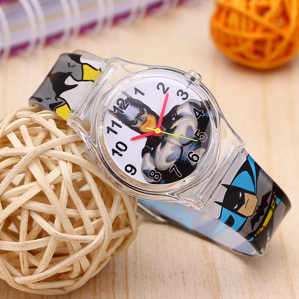 Cute Kid Watch Children Sport Watches Catoon Swimming Diver Enfant Ceasuir Spiderman Batman Anime Boy Clocks Student Dress Saats