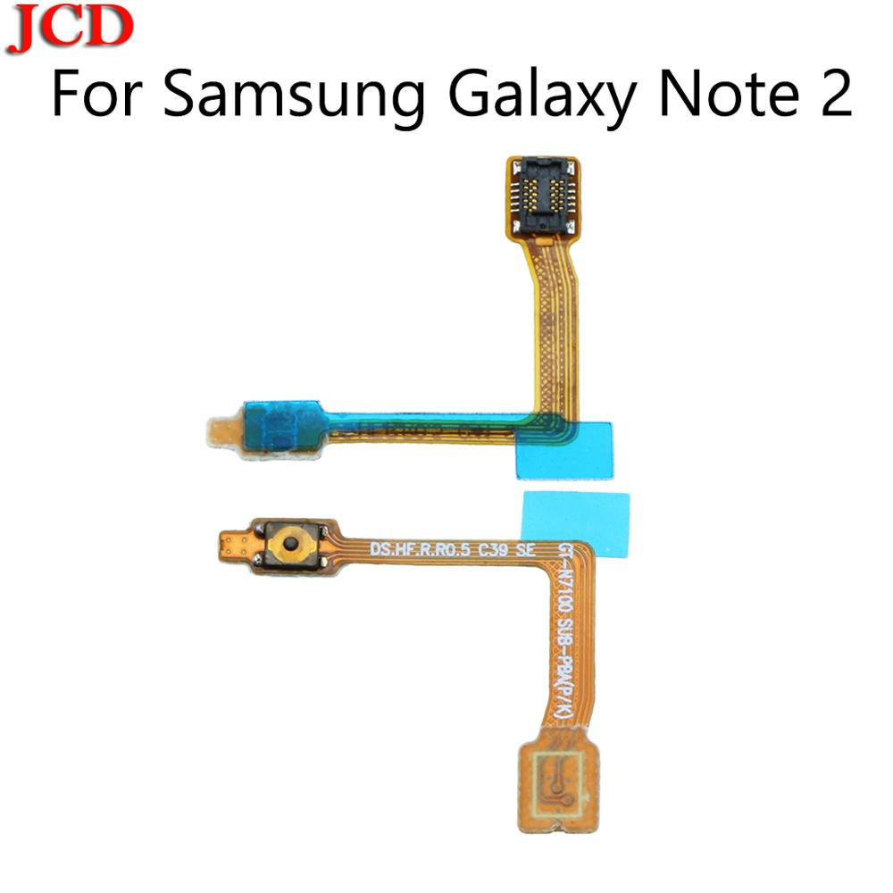 JCD Power Button On / Off Switch Flex Cable For <font><b>Samsung</b></font> Galaxy Note 2 N7105 N7100 GT-N7100 N7105 I317 T889 I605 L900 R950 <font><b>E250</b></font> image