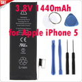 Mais novo genuine substituição da bateria 3.8 v 1440 mah marca new bateria de iões de lítio interna para apple iphone 5 + kit de ferramentas