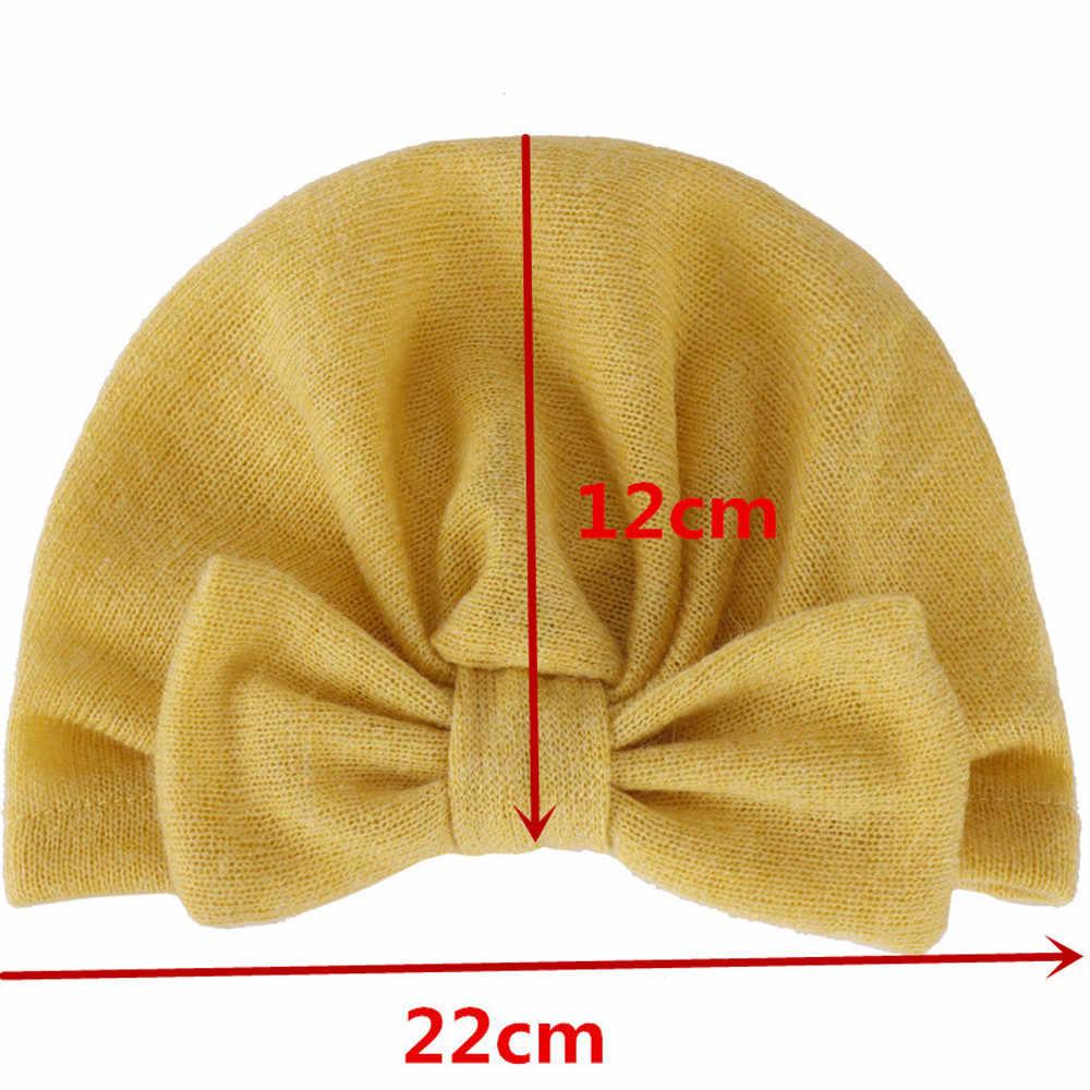 น่ารัก Bowknot Beanie หมวกสำหรับทารกเด็กทารกฤดูหนาว Crochet อบอุ่นหมวกถักหมวก Acessorios Infantil Menina คุณภาพสูง @ 27