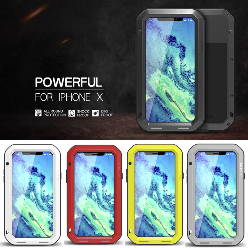 For iphone XS Case Waterproof Cover for iphone X Aluminum Metal Shockproof Case For iphone XS Full Protection Cover for iphoneXS