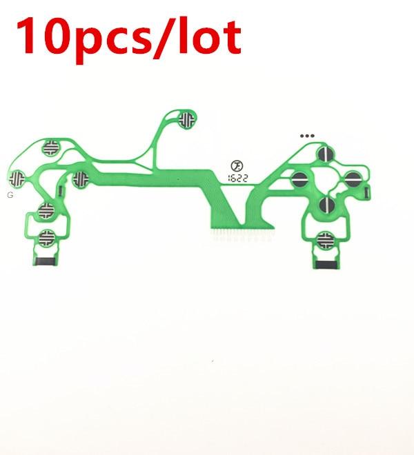 10pcs/lot New Conductive Film Keypad flex Cable Ribbon Circuit Board for SONY Dualshock 4 Pro PS4 Pro JDS 040 JDM-040 Controller