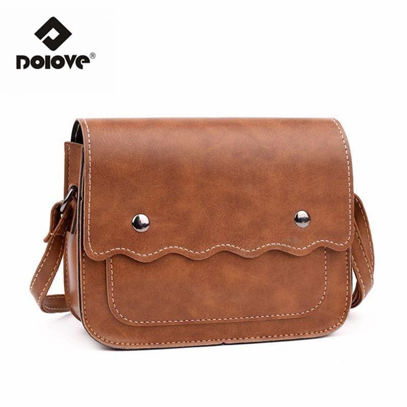 Nouveaux sacs à main vintage en cuir huile coréen petit carré de couleur solide sac Messenger décoration ceinture sac en bandoulière, noir