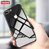 For Apple IPhone 7 Case 7 Plus Tempred Glass Cover For Apple IPhone 8 Case 8