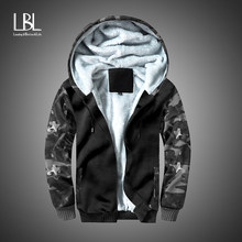 Mannen Jas en Jas Trendy Warme Fleece Dikke Leger Hooded Jassen 2018 Winter Mode Heren Militaire Bomber Uitloper US size(China)