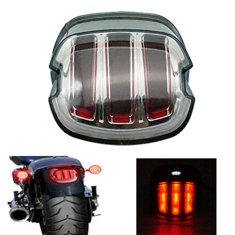 Motorcycle LED Tail Light For Harley Sportster Fatboy Heritage Softail XL FLHR FLHRCI FXD Rear Brake Park Light Stop Lamp