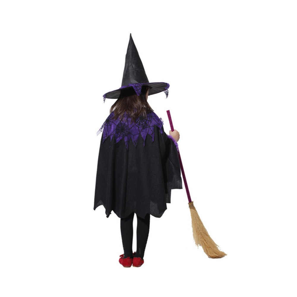 Anak-anak Anak Halloween Cosplay Mantel Jubah dengan Hat Anak Laki-laki Anak Perempuan Pesta Kostum Penyihir Penyihir Jubah Gaun Jubah Chirstmas Dress Up