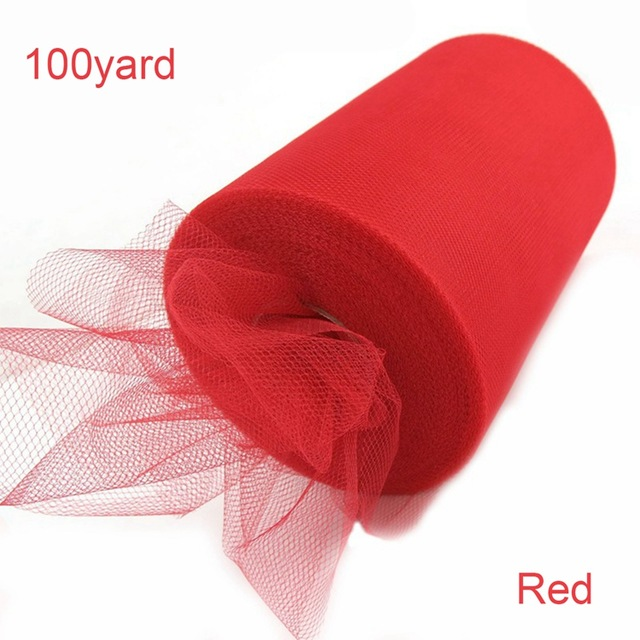 FENGRISE Tulle Roll 15cm 100Yards Roll Fabric Spool Tutu Party Birthday Gift Wrap Wedding Decoration Party Favors Event Supplies