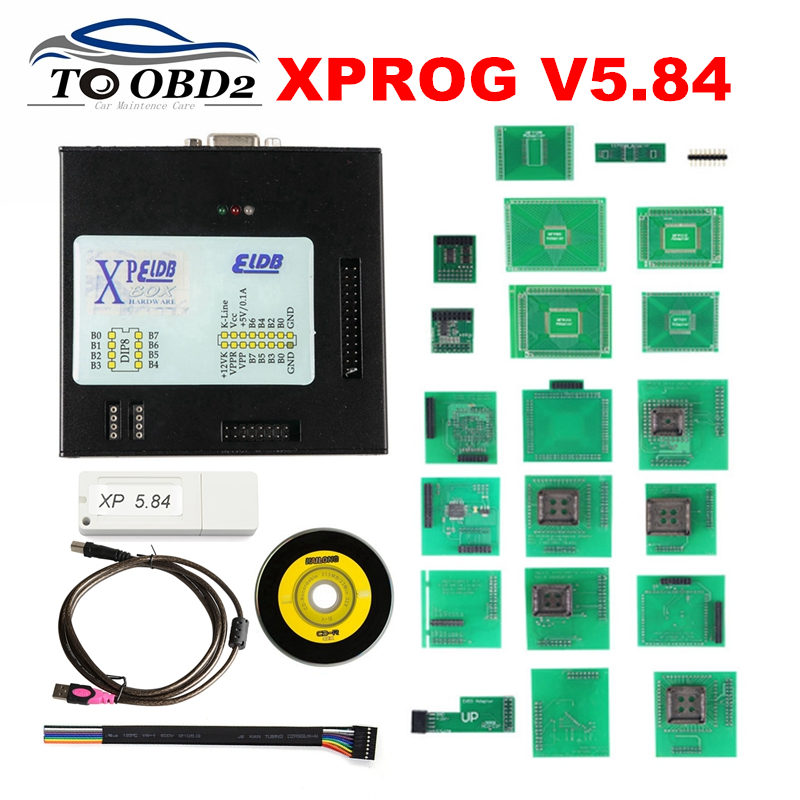 <font><b>XPROG</b></font> <font><b>5.84</b></font> Black Metal Box <font><b>XPROG</b></font> M V5.84 Auto ECU Programmer Update Version <font><b>Xprog</b></font>-M V5.84 ATMEGA64A Chip FOR <font><b>XPROG</b></font> V5.84 image