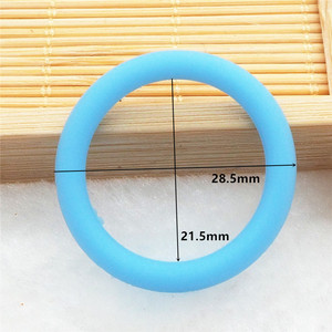 Image 3 - Chenkai 1000 pièces silicone adaptateur O anneaux bricolage bébé NUK MAM sucette factice soins infirmiers pendentif bijoux sensoriel jouet cadeau ID 21.5mm