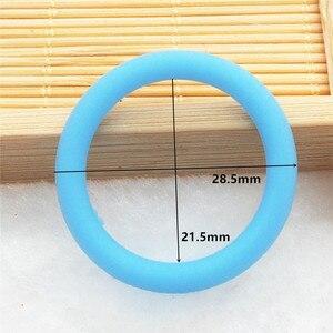 Image 3 - Chenkai 1000pcs סיליקון מתאם O טבעות DIY תינוק NUK MAM מוצץ Dummy סיעוד תליון תכשיטי חושי צעצוע מתנה מזהה 21.5mm