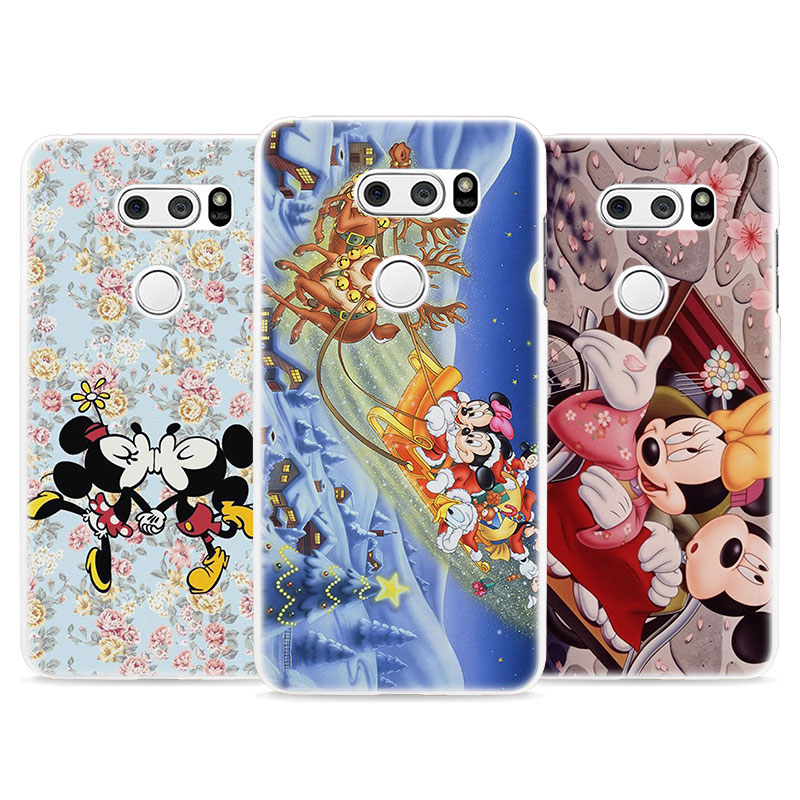BiNFUL Kissing Mickey Minnie Mouse style hard White Phone Shell Case Cover for LG G3 G4 G5 G6 G6Mini V10 V20 V30