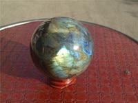 485g 70mm Madagascar NATURAL Labradorite QUARTZ CRYSTAL sphere ball LA1021